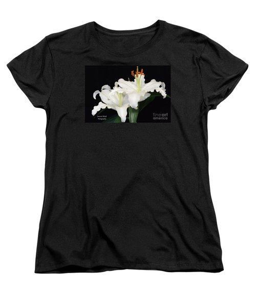Women's T-Shirt (Standard Cut) featuring the photograph White  Lilies by Jeannie Rhode