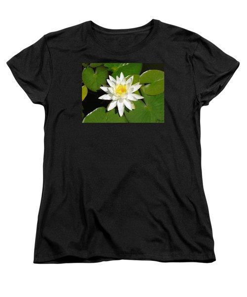 White Lotus 1 Women's T-Shirt (Standard Cut) by Ellen Henneke