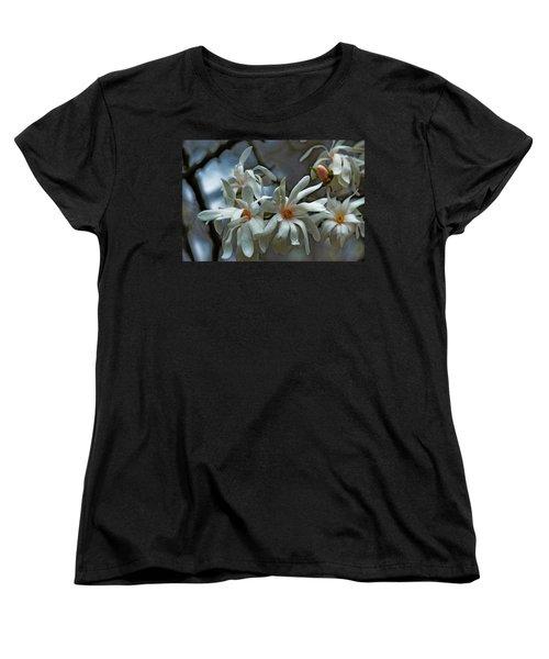 White Magnolia Women's T-Shirt (Standard Cut) by Rowana Ray