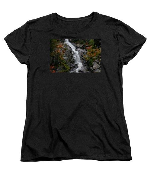 White Mountain Water Fall  Women's T-Shirt (Standard Cut) by Denyse Duhaime