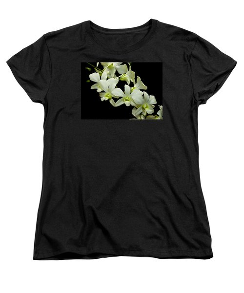 White Orchids Women's T-Shirt (Standard Cut) by Swank Photography