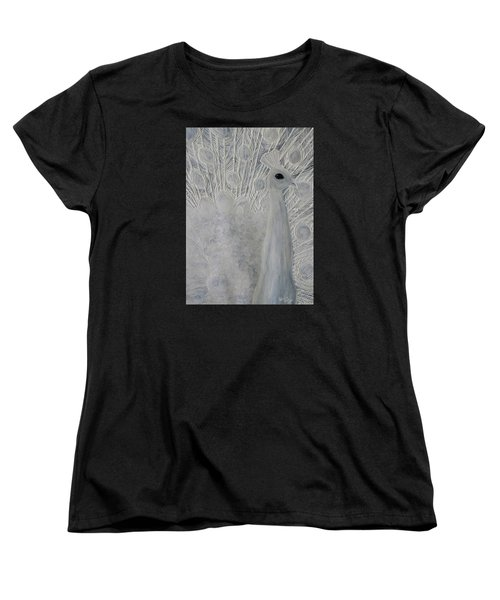 White Peacock Women's T-Shirt (Standard Cut) by Patricia Olson