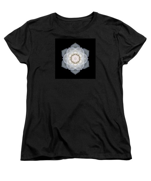 White Rose I Flower Mandala Women's T-Shirt (Standard Cut) by David J Bookbinder