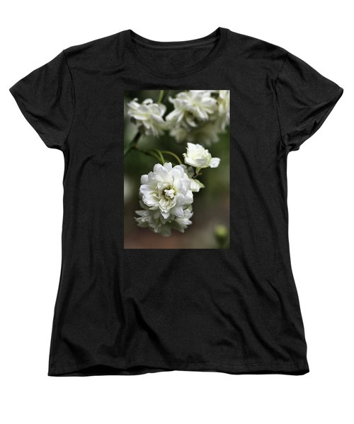 Women's T-Shirt (Standard Cut) featuring the photograph White Roses by Joy Watson