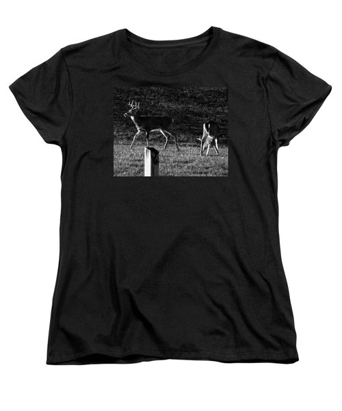 White Tailed Deer Women's T-Shirt (Standard Cut)