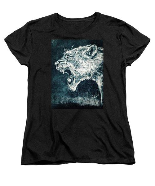 Leon Portrait Women's T-Shirt (Standard Cut) by Alban Dizdari