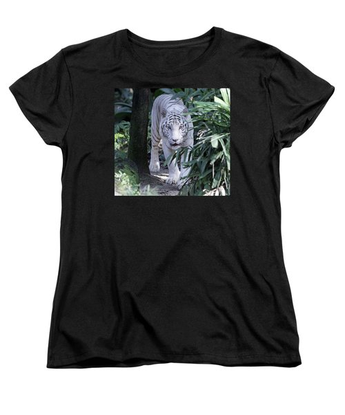 Women's T-Shirt (Standard Cut) featuring the photograph White Tiger  by Shoal Hollingsworth