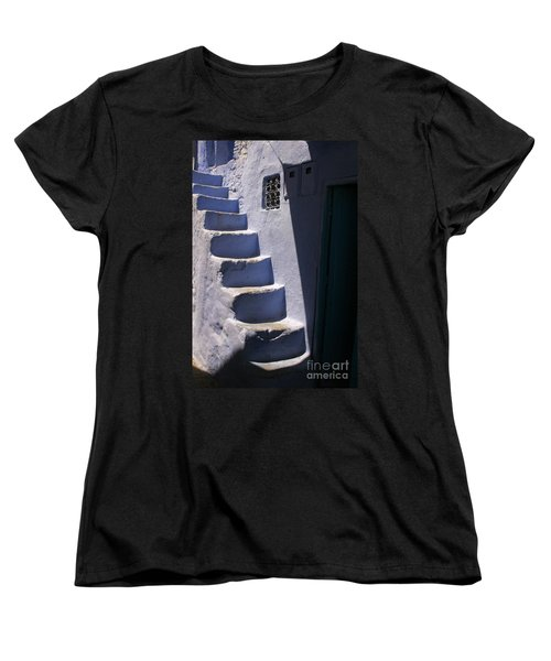 Whitewashed Steps In The Medina Of Asilah On Northwest Tip Of Atlantic Coast Of Morocco Women's T-Shirt (Standard Cut) by Ralph A  Ledergerber-Photography