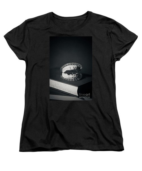 Women's T-Shirt (Standard Cut) featuring the photograph Whose Teeth Are These? by Trish Mistric