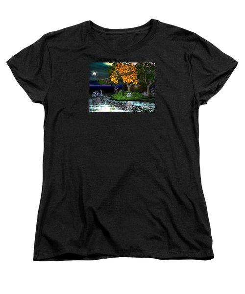 Wicked In The Darkest Hours Of Night Women's T-Shirt (Standard Cut) by Jacqueline Lloyd