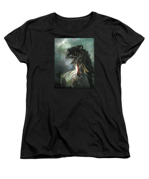 Women's T-Shirt (Standard Cut) featuring the painting Wild And Free by LaVonne Hand