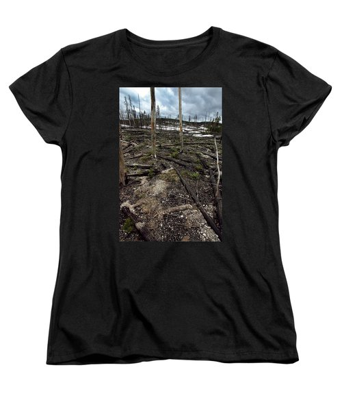 Women's T-Shirt (Standard Cut) featuring the photograph Wild Fire Aftermath by Amanda Stadther