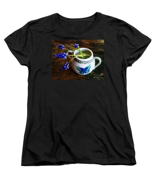Wild Flowers In Sugar Bowl Women's T-Shirt (Standard Cut) by Lainie Wrightson
