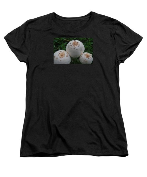 Women's T-Shirt (Standard Cut) featuring the photograph Wild Mushrooms by Miguel Winterpacht