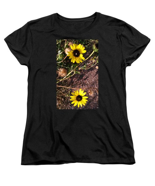 Women's T-Shirt (Standard Cut) featuring the photograph Wild Sunflowers by Fortunate Findings Shirley Dickerson