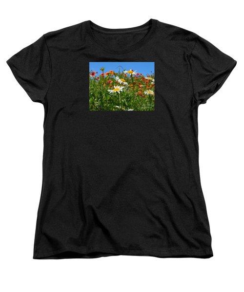 Women's T-Shirt (Standard Cut) featuring the photograph Wild White Daisies #1 by Robert ONeil