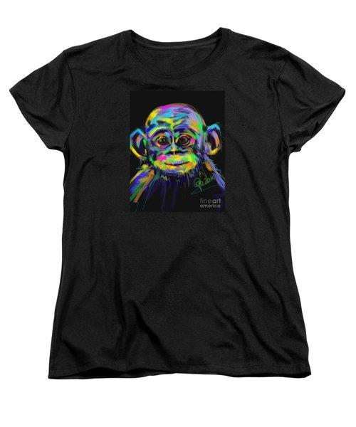 Wildlife Baby Chimp Women's T-Shirt (Standard Cut) by Go Van Kampen