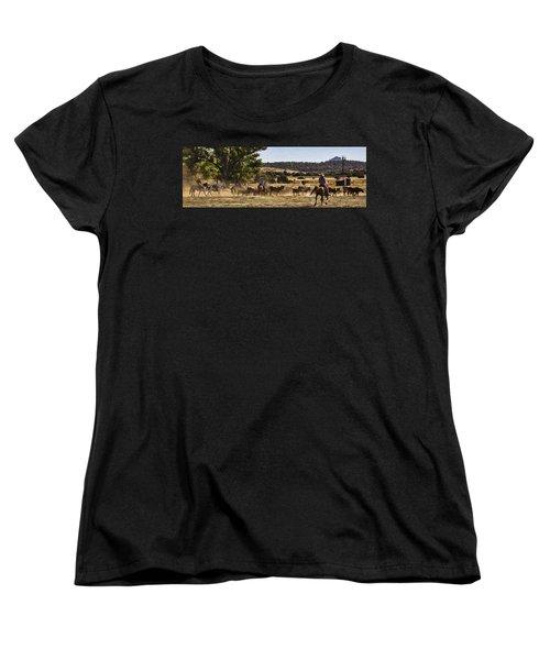 Williamson Valley Roundup 6 Women's T-Shirt (Standard Cut) by Priscilla Burgers
