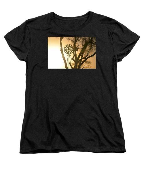 Spinning In The Sundown Women's T-Shirt (Standard Cut) by Clarice  Lakota