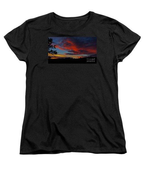 Black Hills Sunset Women's T-Shirt (Standard Cut) by Bill Gabbert