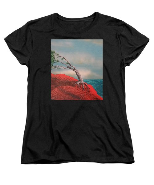 Wind Swept Tree Women's T-Shirt (Standard Fit)