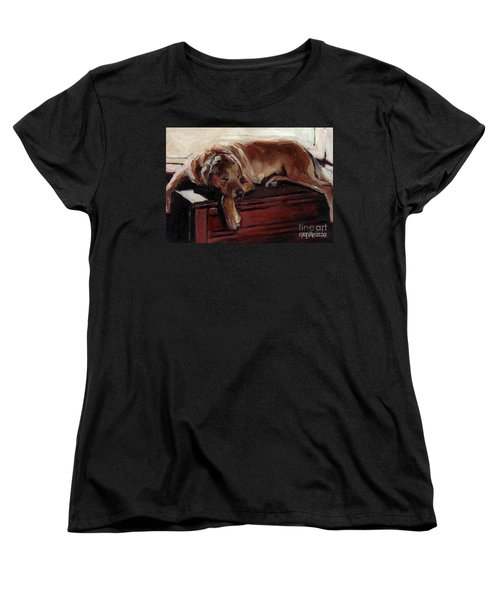Women's T-Shirt (Standard Cut) featuring the painting Window Dresser by Molly Poole