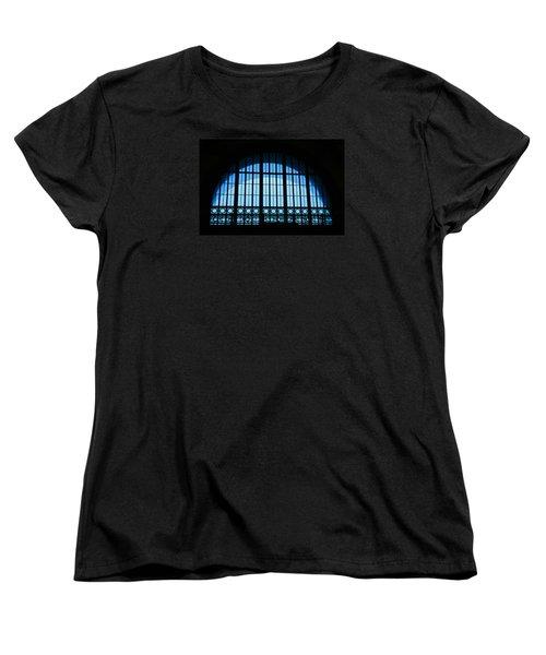 Women's T-Shirt (Standard Cut) featuring the photograph Window In Chattanooga Train Depot by Susan  McMenamin