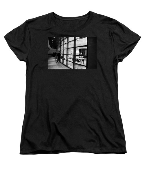 Window Shopping In The Dark Women's T-Shirt (Standard Cut) by Melinda Ledsome