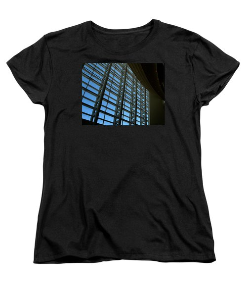 Window Wall At The Adrienne Arsht Center Women's T-Shirt (Standard Cut) by Greg Allore