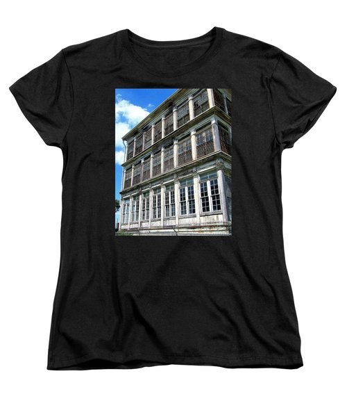 Women's T-Shirt (Standard Cut) featuring the photograph Lunatic Asylum Windows  by Peter Gumaer Ogden