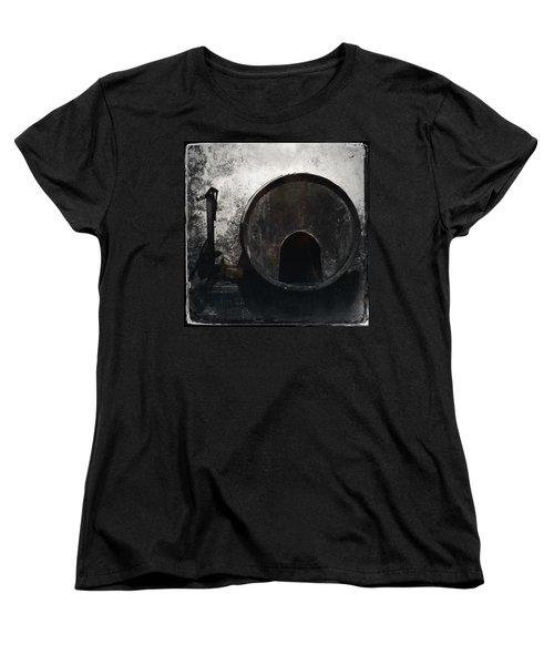 Wine Barrel Women's T-Shirt (Standard Cut) by Marco Oliveira