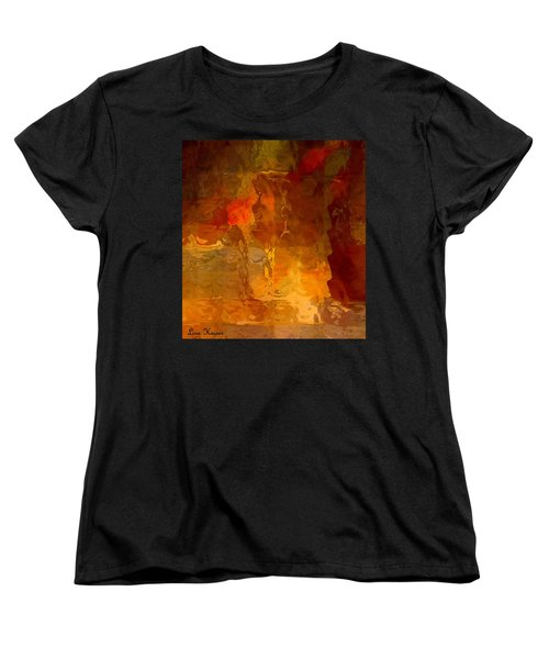 Wine By Candlelight Women's T-Shirt (Standard Cut) by Lisa Kaiser