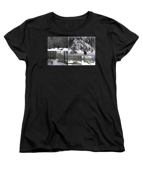 Women's T-Shirt (Standard Cut) featuring the photograph Winter At Petrifying Springs Park by Kay Novy