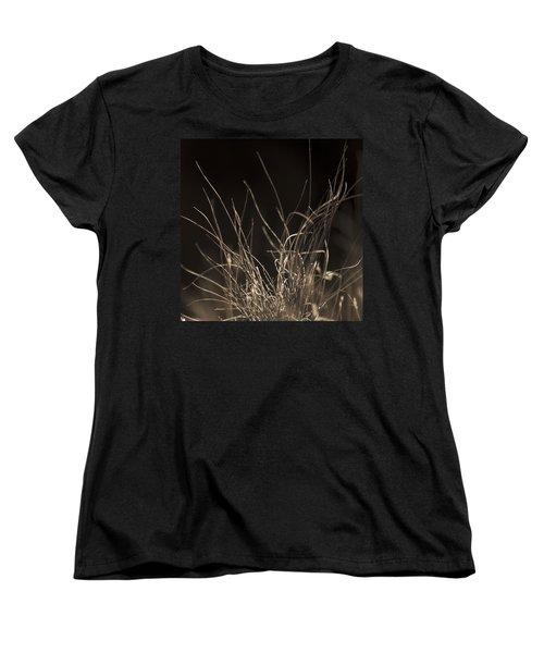 Women's T-Shirt (Standard Cut) featuring the photograph Winter Grass 2 by Yulia Kazansky