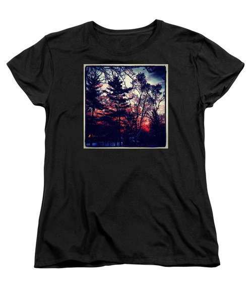 Winter Red Women's T-Shirt (Standard Cut) by Frank J Casella