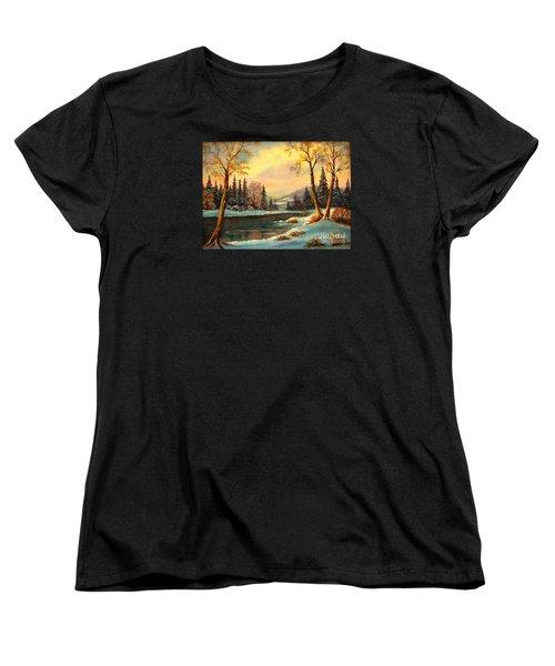 Winter Splendor Women's T-Shirt (Standard Cut) by Hazel Holland