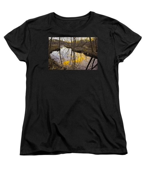 Women's T-Shirt (Standard Cut) featuring the photograph Winter Sunset At Williston Mill by Brian Wallace