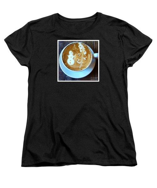 Winter Warmth Latte Women's T-Shirt (Standard Cut) by Susan Garren