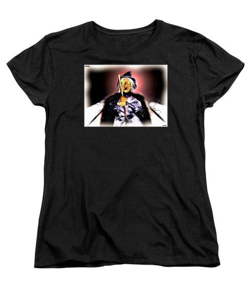 Women's T-Shirt (Standard Cut) featuring the digital art Witch by Daniel Janda