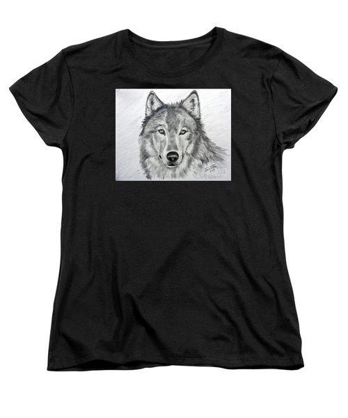 Wolf Women's T-Shirt (Standard Cut) by Julie Brugh Riffey