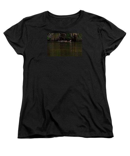 Wood Duck And Ducklings Women's T-Shirt (Standard Cut)