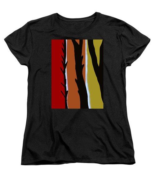 Women's T-Shirt (Standard Cut) featuring the digital art Wood L by Christine Fournier