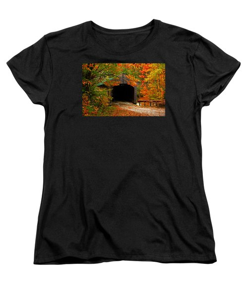 Wooden Bridge Women's T-Shirt (Standard Cut) by Bill Howard