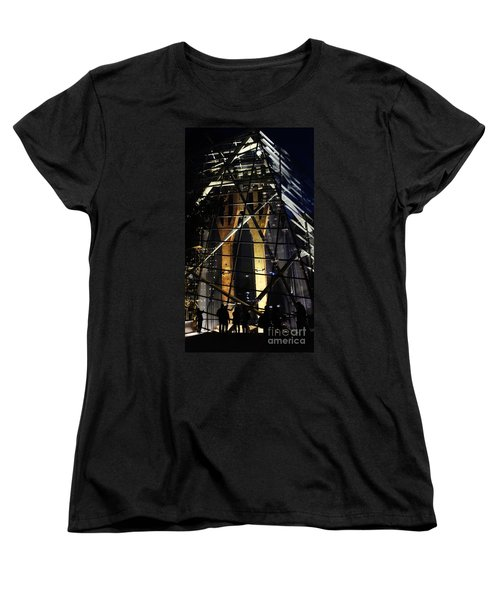 Women's T-Shirt (Standard Cut) featuring the photograph World Trade Center Museum At Night by Lilliana Mendez