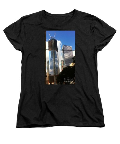 Women's T-Shirt (Standard Cut) featuring the photograph World Trade Center Twin Tower by Susan Garren