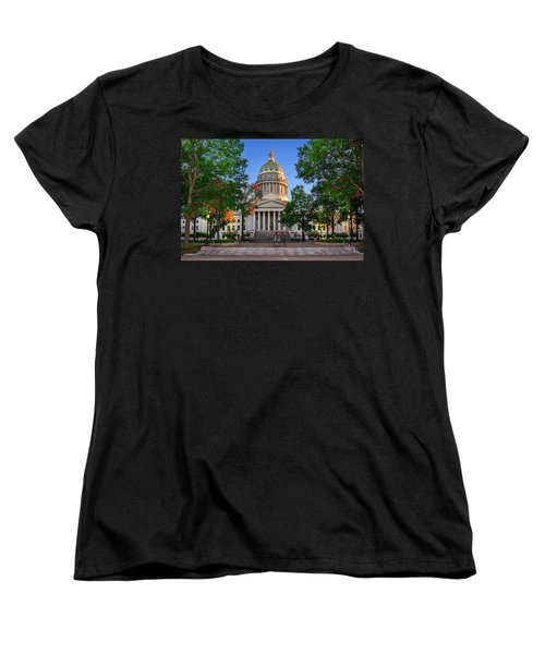 Wv Capitol As Dusk Women's T-Shirt (Standard Cut) by Mary Almond