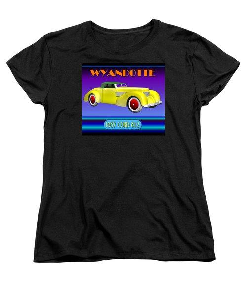Wyandotte 1937 Cord 812 Women's T-Shirt (Standard Cut) by Stuart Swartz