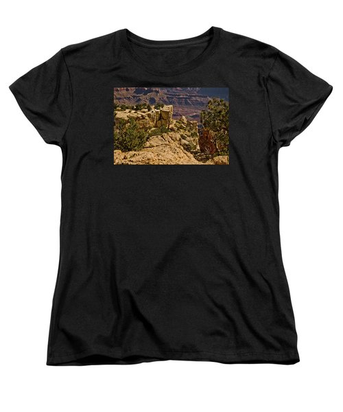 Women's T-Shirt (Standard Cut) featuring the photograph Yaki Point 3 The Grand Canyon by Bob and Nadine Johnston