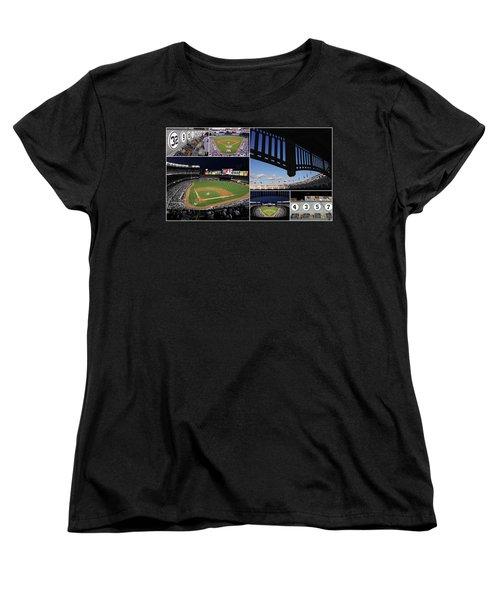 Yankee Stadium Collage Women's T-Shirt (Standard Cut)