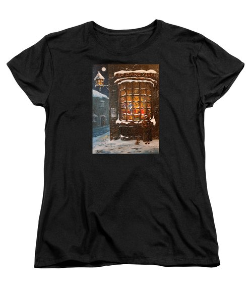 Women's T-Shirt (Standard Cut) featuring the painting Ye Old Toy Shoppe by Jean Walker